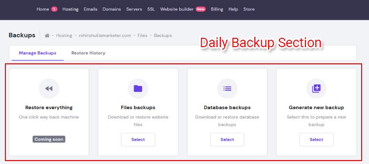 hostinger backup options